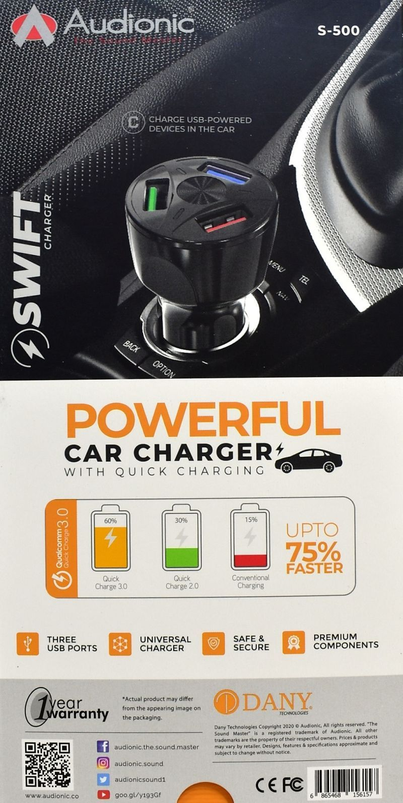 Audionic Swift S-500 Car Charger