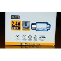 Type-C 2.4A Dual USB Port Dew Charger