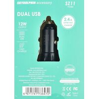 Sky Dolphin 2.4A Dual USB Port Car Charger