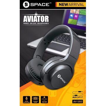Space Aviator Wired On-Ear Headphones - AV560