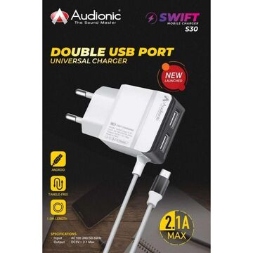 Audionic S-30 Dual USB Port Mobile Charger