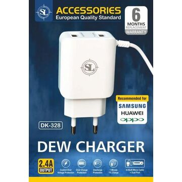 2.4A Dual Micro USB Dew Charger