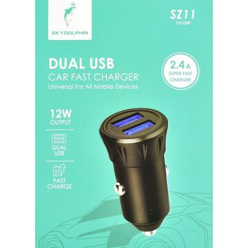 Sky Dolphin 2.4A Dual USB Port Car Charger