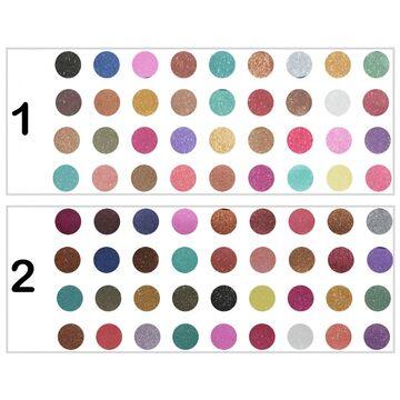 Rivaj Uk 36 in 1 Shimmery Diamond Eye Shadow Kit - RG Color Combinations